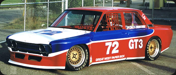 Specialty Engineering street car and racecar specialists Datsun 510 custom fiberglass flare kit